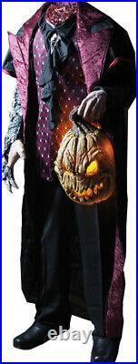 Life Size Headless Horseman w Lighted Pumpkin Halloween Prop Haunted House Decor