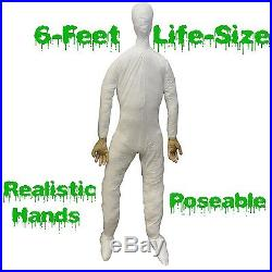 Life Size STUFFED POSABLE MANNEQUIN DISPLAY DUMMY Halloween Costume Prop Man-6ft