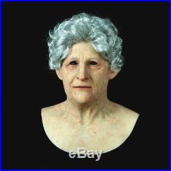 Lifelike grandma soft lifelike skin silicone mask Age spots realistic mask
