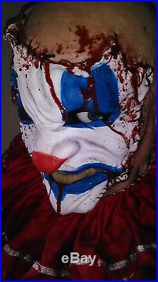 Lifesize Gemmy Whipstitch Killer Clown Animated Halloween Prop