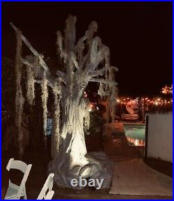Lot of 3 Trees 11 FT Christmas Halloween Commercial Foam Props Haunted House