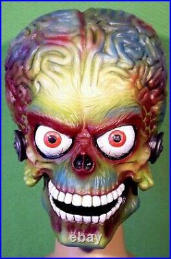 MARS ATTACKS! Latex Mask MARTIAN SOLDIER Life Size 11 PROP Alien UFO Halloween