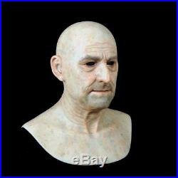 Makeup mask realistic old people soft Silicone Mask actor's Mask of Camoufl