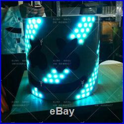 MarshMello DJ Mask Tiesto LED Head Helmet Cosplay Bar Party Music Fans Prop 2019