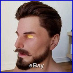 NEW Realistic Male Model Silicone Mask Haired (Realflesh Masks)