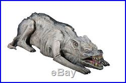 OLD SLIM PROP Zombie Dog Scary Haunted House Yard Realistic Latex Halloween