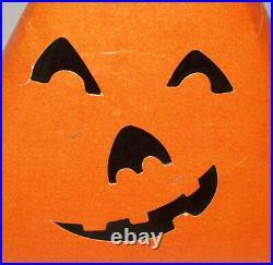 Old Antique Vtg Early C 1930s Halloween Paper Cardboard Party Hat Jack O Lantern