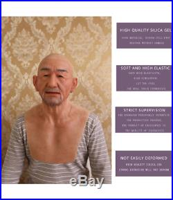 Old Man Realistic Silicone High Quality Bearded Mask Xmas 2018 Christmas Party