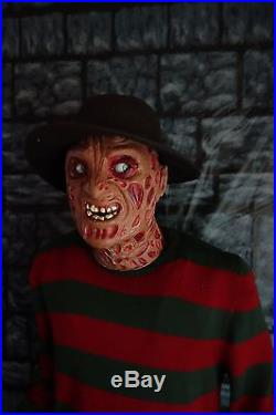 Original Elm Street 6' Freddy Krueger Animated Halloween Lifesize Gemmy Prop