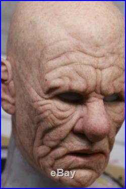 POPSY THE OLD MAN Full Head Silicone Mask MADE TO ORDER by MADNESS FX in the USA