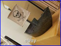 Pottery Barn Galvanized Indoor/Outdoor Pirate Ship Party Bucket Halloween