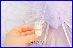 Pottery Barn Kids 4-6 Lavender Butterfly Fairy Costume NWT