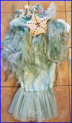Pottery Barn Kids Halloween Mermaid Costume 4-6 Blue #3376