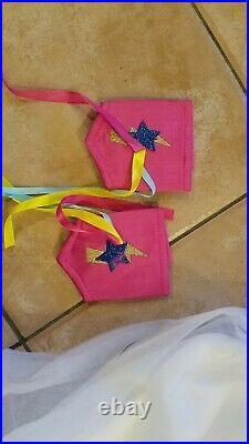 Pottery Barn Kids Pink Amazing Girl Halloween Costume 7-8 #2412