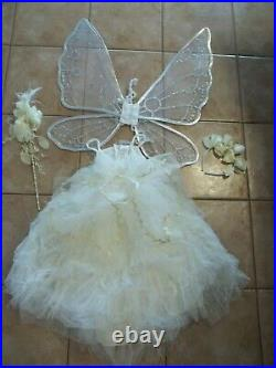 Pottery Barn Kids Toddler Monique Lhuillier Ivory Fairy Costume 4-6 #2379