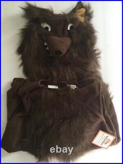 Pottery Barn Kids Werewolf Wolf Halloween Costume Boy Animal + Treat Bag 7-8