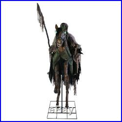 Pre Order-halloween Animated Life Size Reapers Ride Horse Skull Prop Decoration