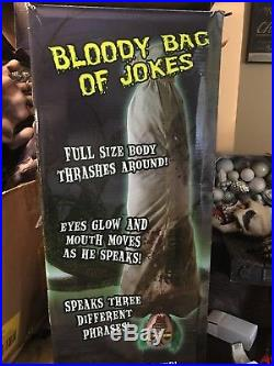 RARE 2013 Bloody Bag Of Jokes Spirit Halloween Prop