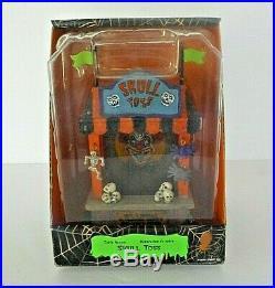 RARE HTF Lemax Spooky Town SKULL TOSS Halloween Decor Village Building 03822