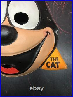 RARE Vintage 1950s Ben Cooper Felix The Cat Halloween Mask