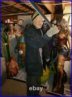 RARE working Halloween prop JASON life size gemmy very large prop animatronic