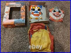 Rare 1950's Vintage Ben Cooper Clown Costume with mask in original box