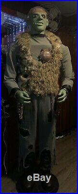Rare GEMMY Halloween BRAIN MONSTER Prop ANIMATRONIC Life Size ANIMATED See Video