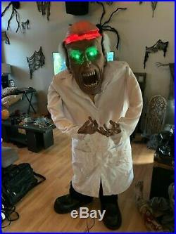 Rare Spirit Halloween Decor Mad Scientist Prop Animatronic 2008 With Box WORKING