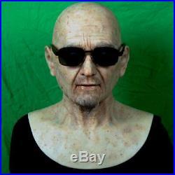 Realistic Professional Silicone Mask Lifelike beard Grandpa soft Silicone Mask