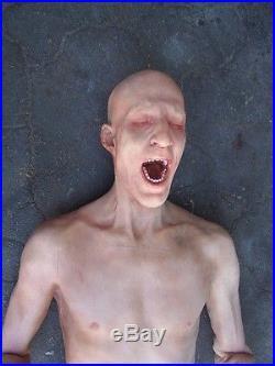 SCREAMING ZOMBIE TORSO Half Body Haunted House Halloween Decoration & Prop