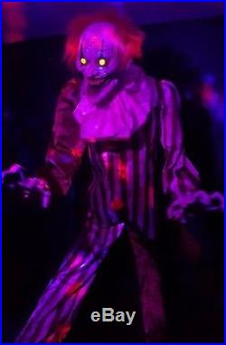 SOLD OUT FOR 2017 New Spirit Halloween 7 ft. Creepy Towering Clown Animatronic