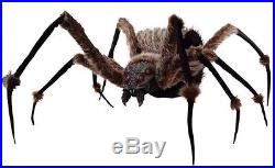 SPIDER 6 FT MONSTROUS POSABLE PROP LED Eyes Haunted House Halloween Decoration