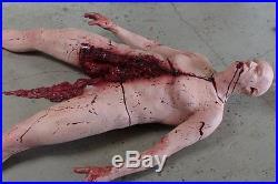 SPLIT CADAVER Haunted House Halloween Horror Prop The Walking Dead Corpse