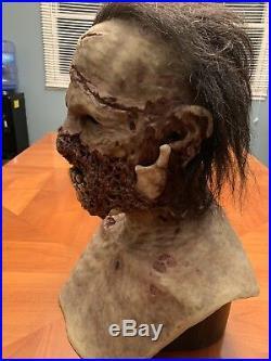 Shotgun Zombie CFX Silicone Mask withHair