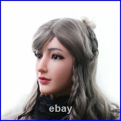 Silicone Female Face Handmade Headwear Crossdresser Halloween Party Shows
