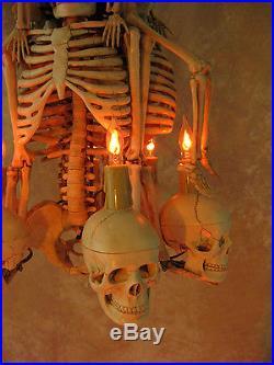 Skeleton Chandelier, Halloween Prop, Human Skeletons