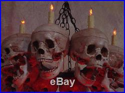 Skull Chandelier, Halloween Prop, Human Skeletons