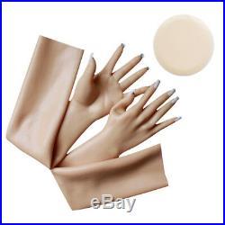 Soft Silicone Rubber Female Gloves Femini Lifelike Female Hand SG2