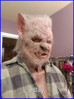 Spfx Rare Wolfman Silicone Mask Fx Werewolf Not Latex Haunt Realistic Costume