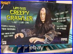 Spirit Halloween Creepy Crawler Animatronic 5 Ft Decoration Prop Rare Nice