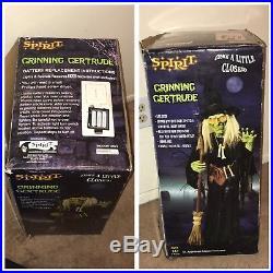 Spirit Halloween Grinning Gertrude Life Size 5 Ft Evil Witch Animatronic Prop