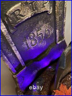 Spirit Halloween HAUNTED SHOVEL & TOMBSTONE ANIMATRONIC PROP SEE VIDEO