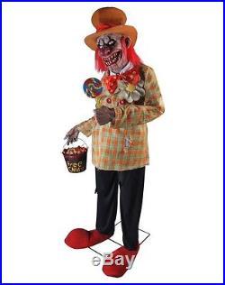 Spirit Halloween Life Size Animated Animatronic Figure Prop Uncle Charlie Clown