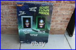 Spirit Halloween Scary Clown Mirror 30x20 Ready To Hang, Sound and Motion