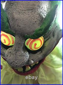 Spirit Halloween Wacky Mole Clown Animated Prop Rare Working
