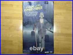 Standing Latex Zombie Farmer prop spirit Halloween (FREE SHIP)
