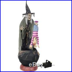 Stew Brew Witch and Child Animated Halloween Decoration Fog Machine INCLUDED