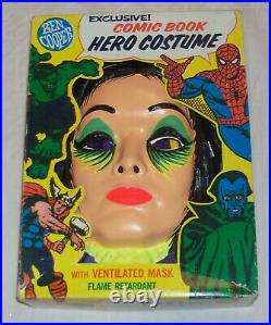 UNUSED Vintage 1965 MORTICIA ADDAMS FAMILY Halloween Costume Ben Cooper MUNSTERS