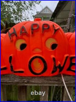 Union Don Featherstone Happy Halloween Pumpkin Blow Mold Rare