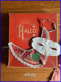 VINTAGE 1930s 40s HALCO BRAND 125 PEASANT GIRL CHILD'S HALLOWEEN COSTUME RARE